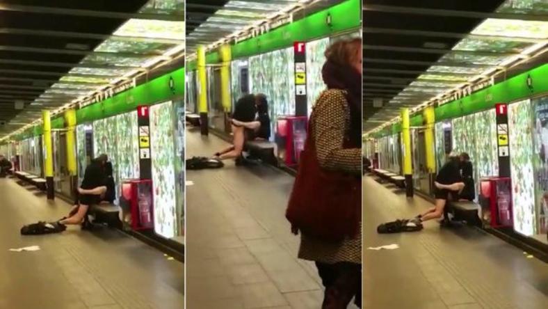 Pillan a una pareja practicando sexo en el metro de Barcelona