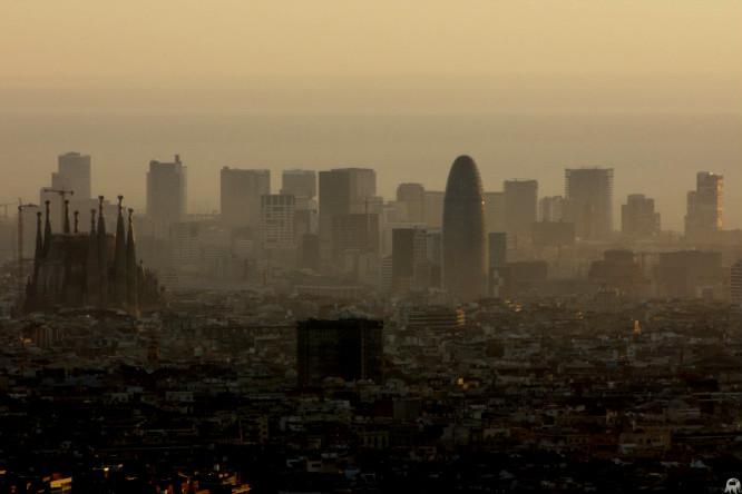 contaminacion en barcelona