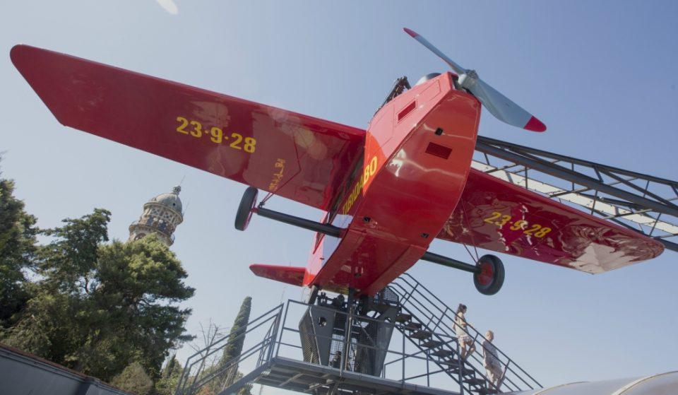 El mítico avión del Tibidabo vuelve a surcar los cielos de Barcelona