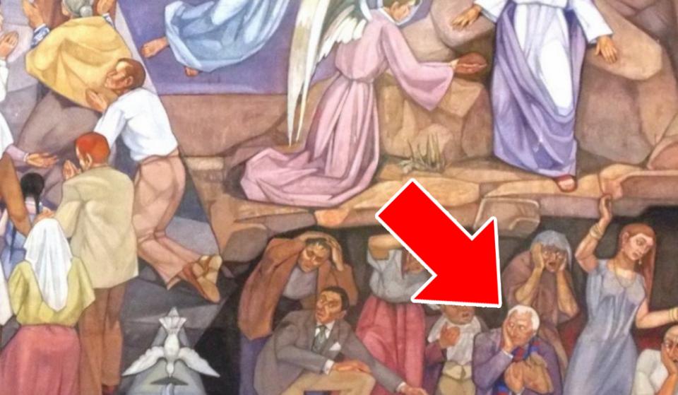 El culé condenado al infierno en Sant Andreu de Palomar