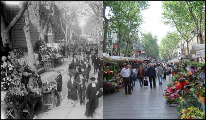 Barcelona antes y después