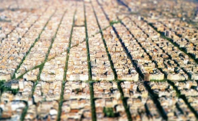 Barcelona en Tilt–shift