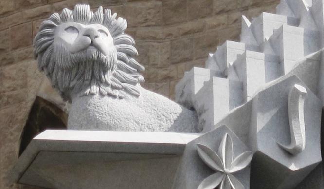 león para la Sagrada Familia