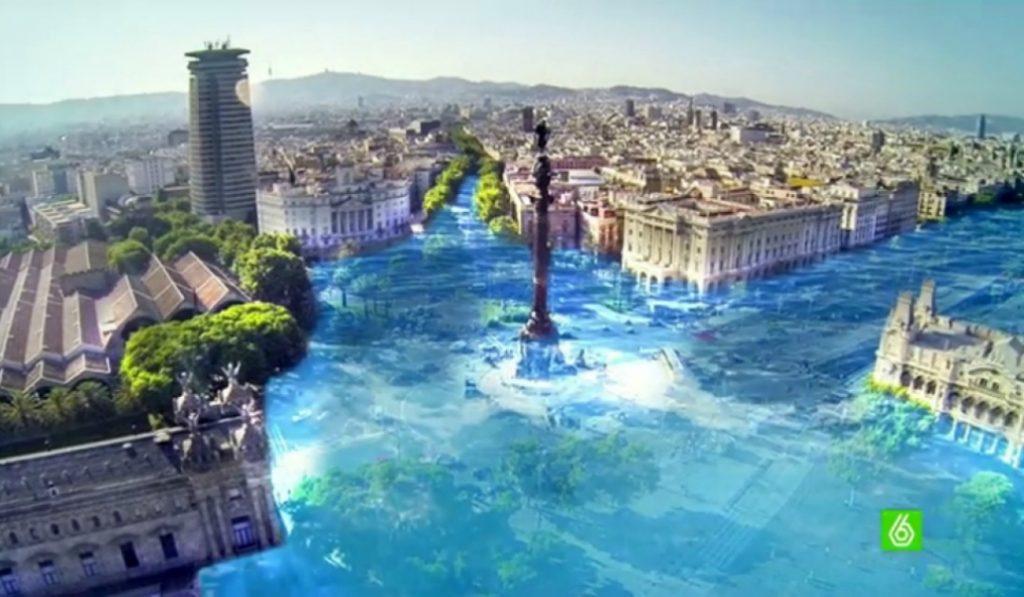 Así quedaría Barcelona ante una subida del nivel del mar