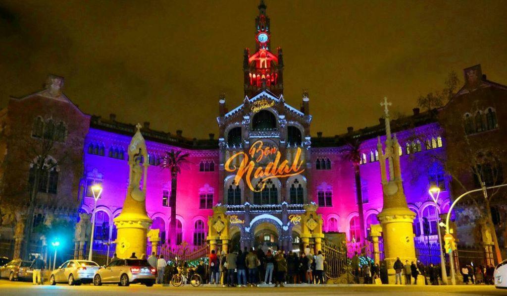 Sant Pau vuelve a iluminarse con su mapping navideño