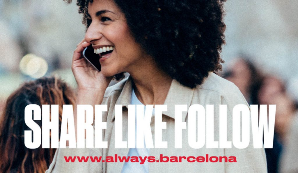 'Share, Like, Follow', así es la nueva campaña para promocionar Barcelona