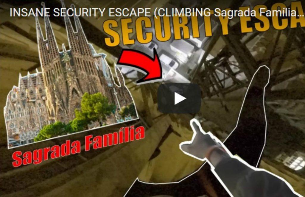 Se saltaron las medidas de seguridad y escalaron la Sagrada Familia