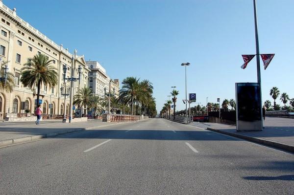 Empty-street-in-Barcelona