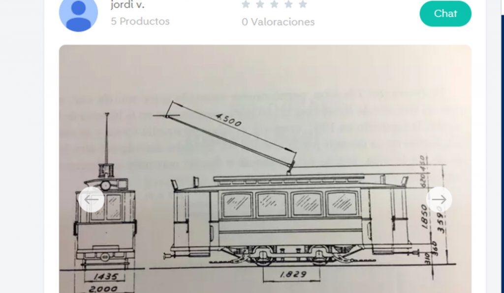Surrealista: un vagón del Tramvia Blau en Wallapop