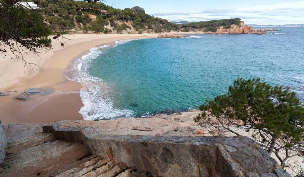 Playa de San Pol de s'Agaró: casi como una playa de Cuba