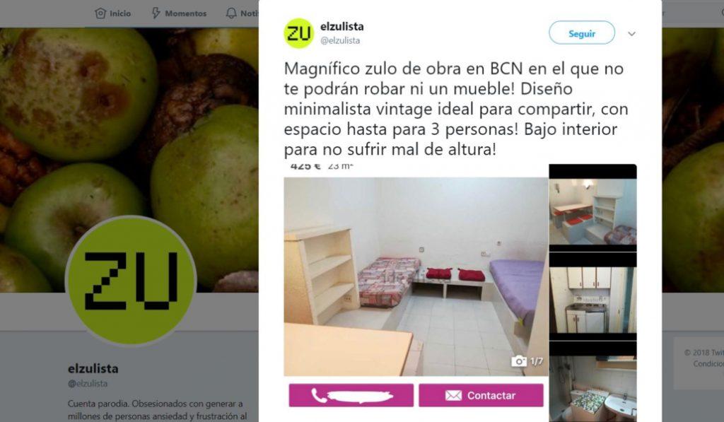 El Zulista, la cuenta de Twitter que se ríe del drama inmobiliario