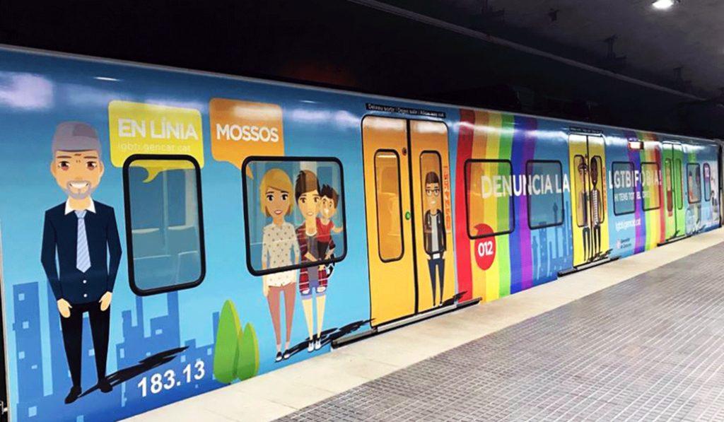 Un tren en Barcelona para combatir la LGTBIfobia