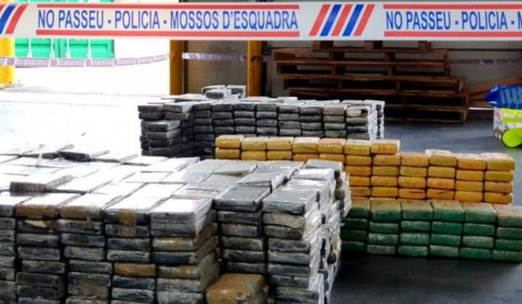 Incautados más de mil kilos de cocaína en el puerto de Barcelona