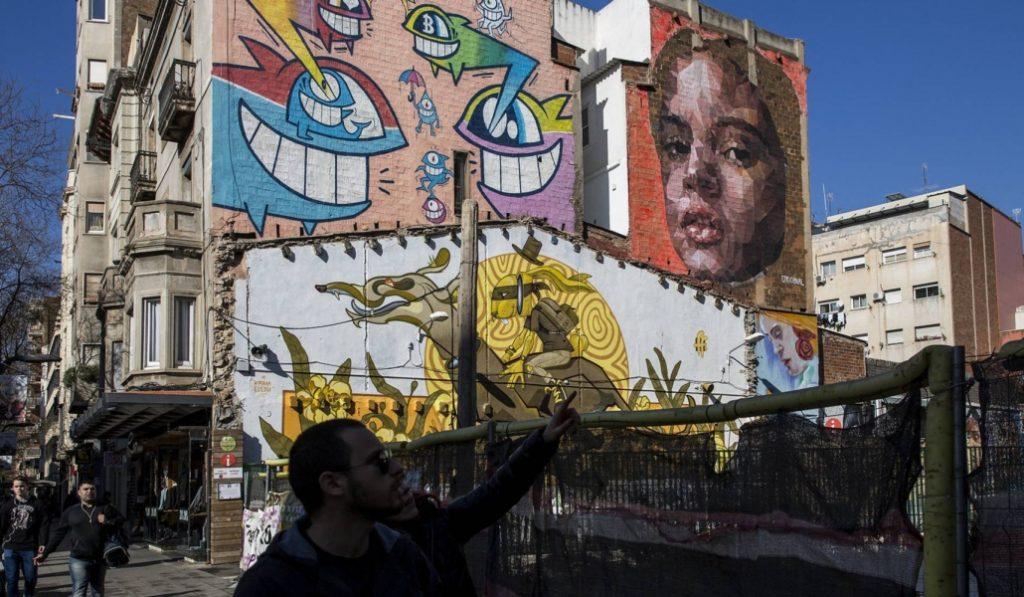 Rosalía tiene un mural en Barcelona