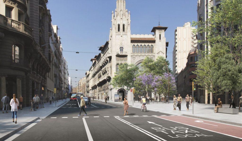 El futuro de Via Laietana: menos coches y más acera