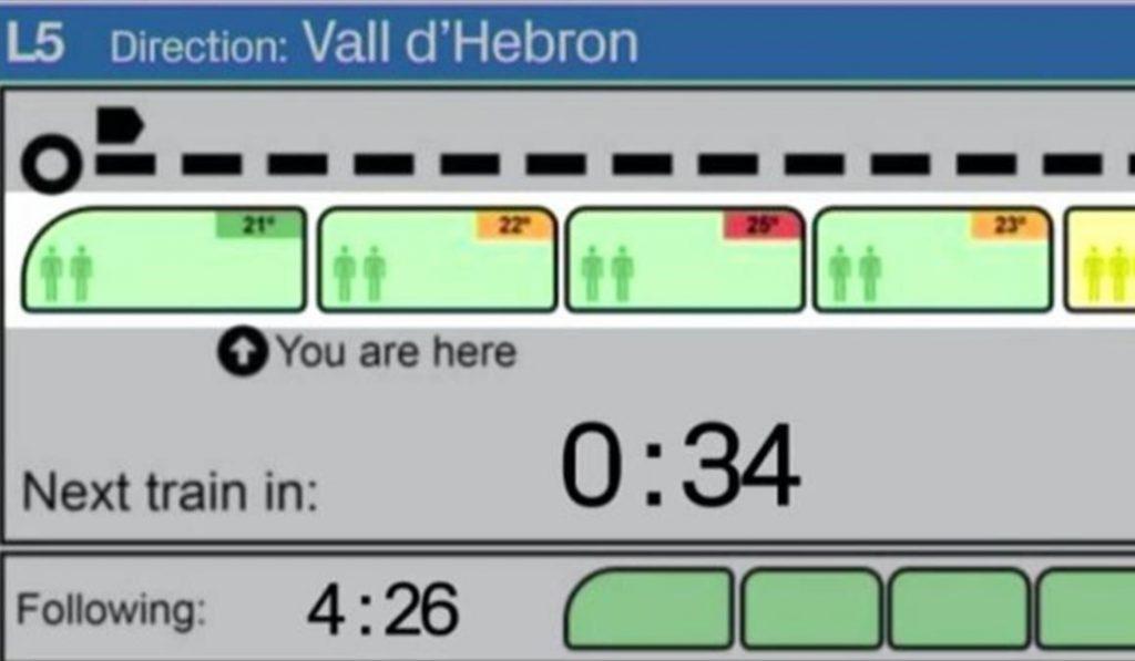 Así serán las nuevas pantallas del Metro de Barcelona