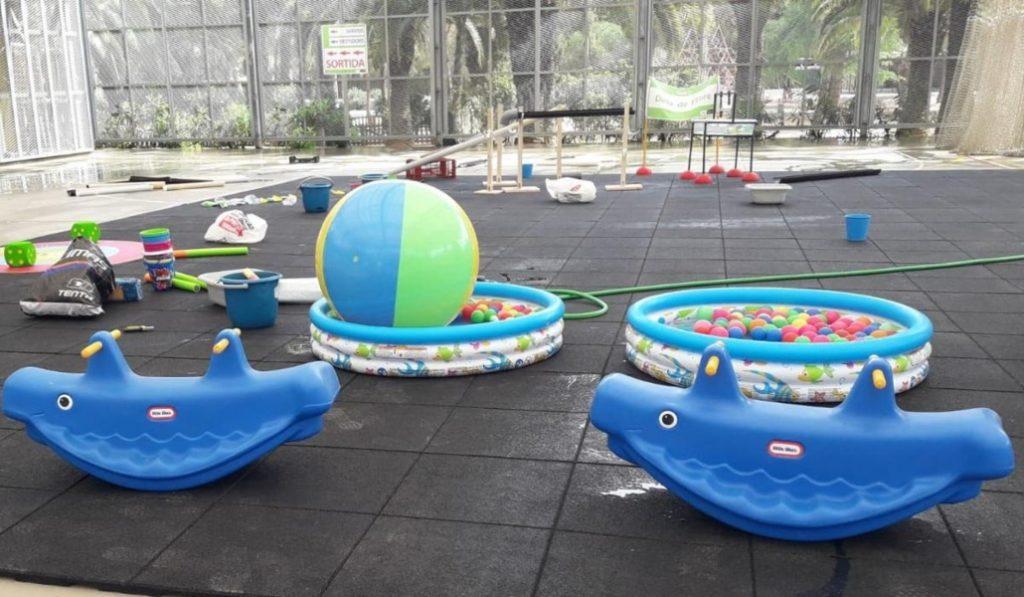 Abre en l'Eixample un nuevo parque acuático para niños