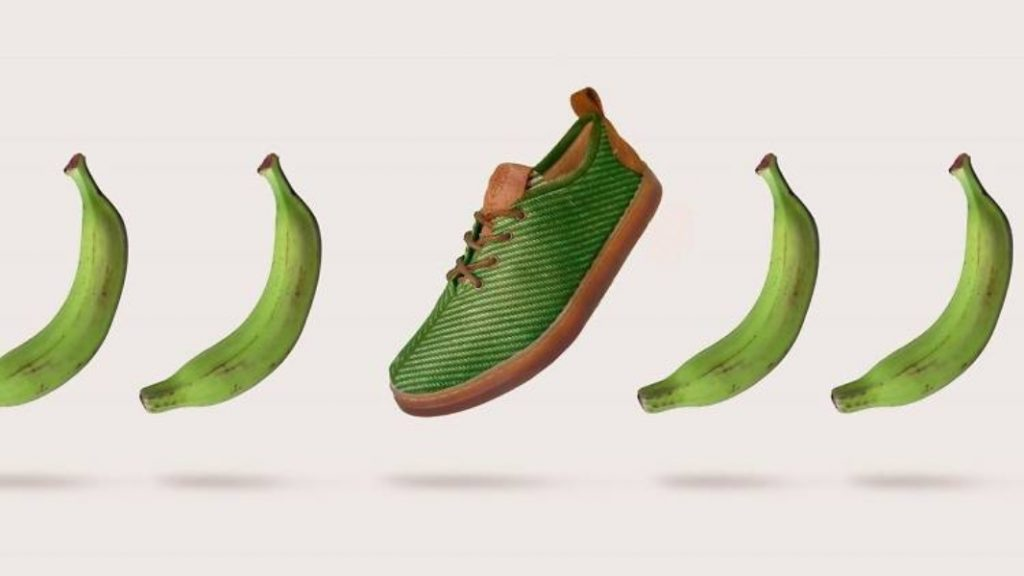 ¿Zapatos biodegradables hechos con fibra de plátano?
