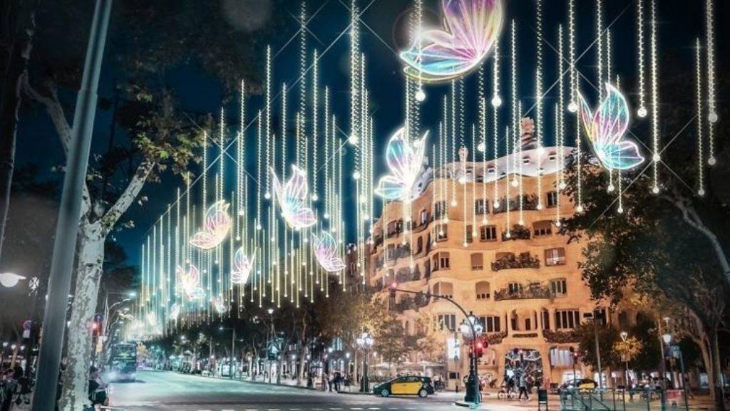 150 mariposas iluminarán el Passeig de Gràcia en Navidad
