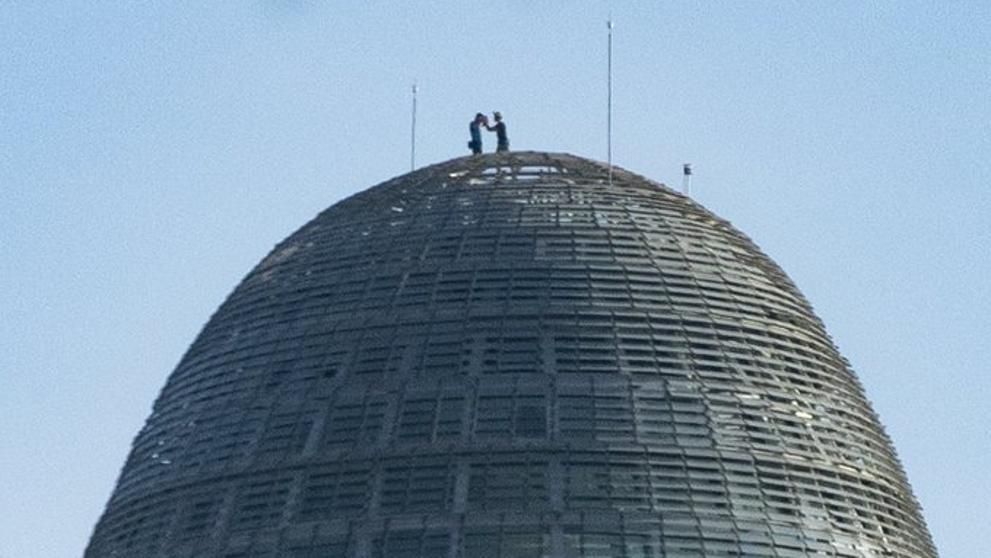 ¿Quiénes son los escaladores de la torre Agbar?