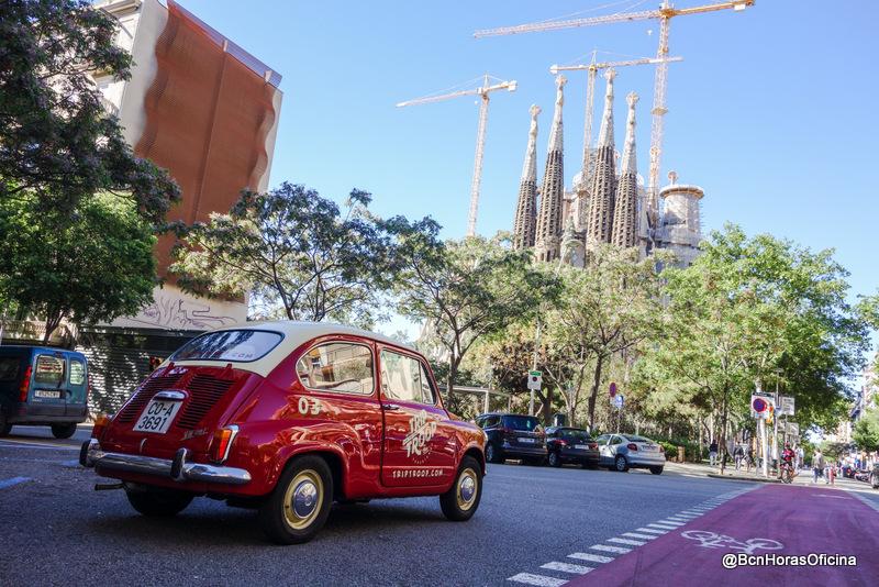 La ruta por Barcelona al volante de un Seat 600