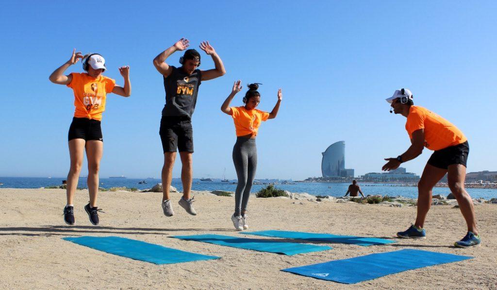 Los parques y las playas de Barcelona son tu nuevo gimnasio
