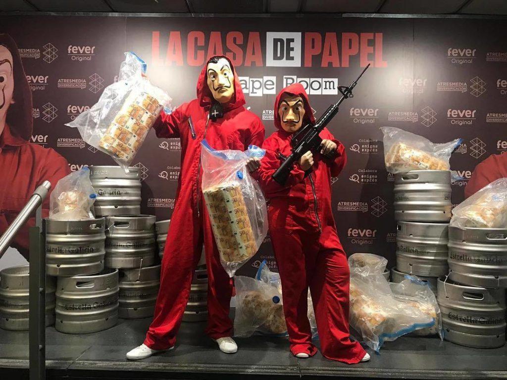 La Casa de Papel Escape Room bate récord con más de 25.000 entradas vendidas