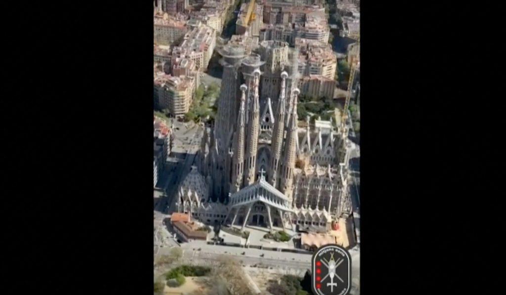 Así se ven las calles vacías de Barcelona desde el cielo