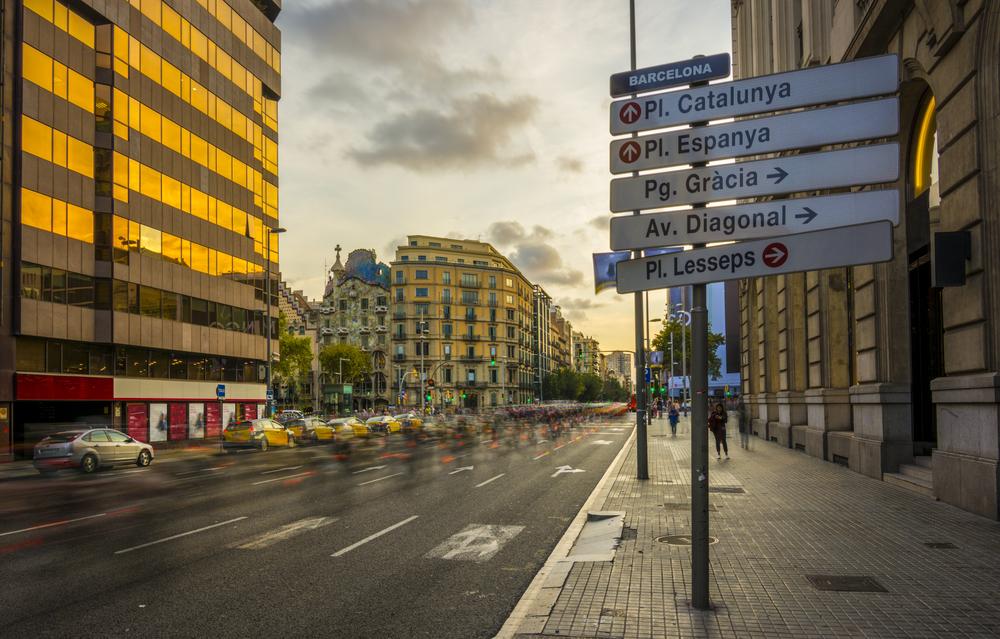 Cuatro grandes avenidas de Barcelona serán peatonales este domingo