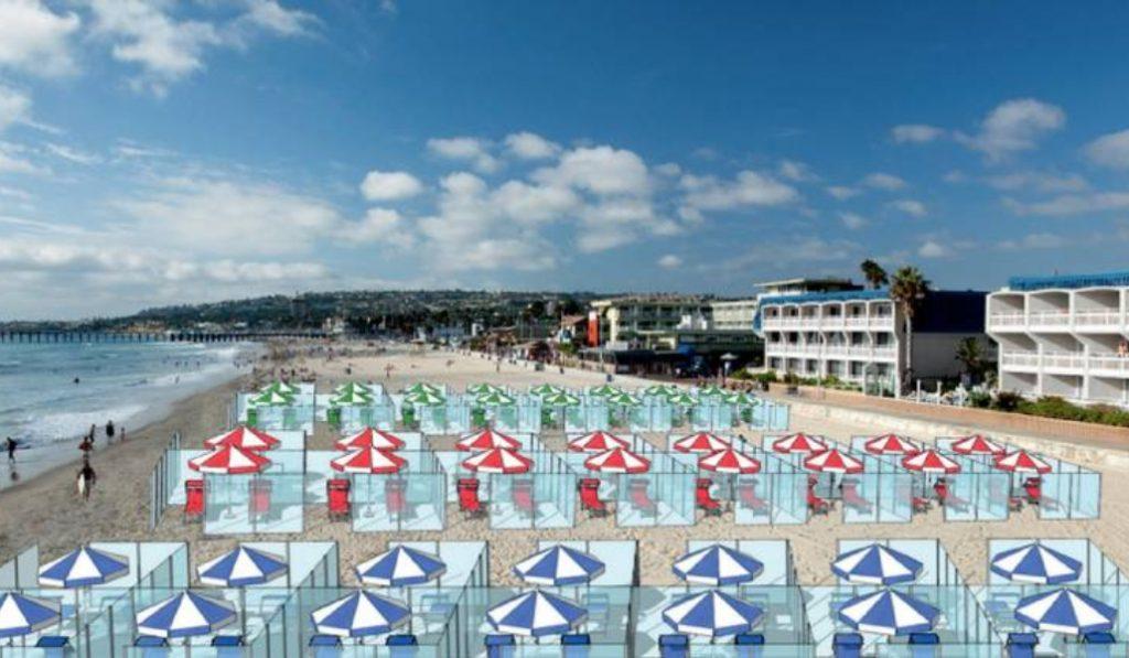 Mamparas en las playas: la última alternativa para salvar el verano