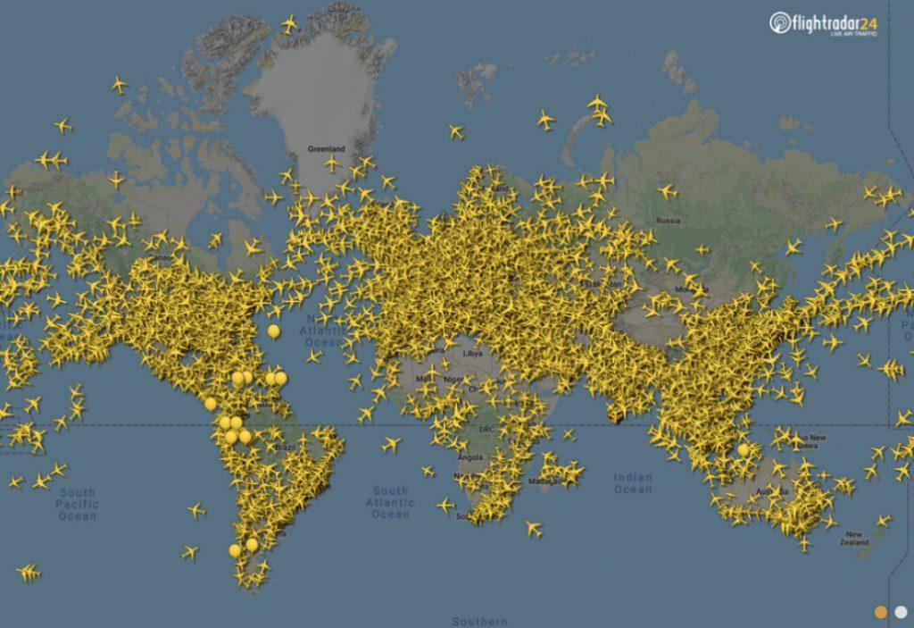 Así se redujo el tráfico aéreo, en imágenes