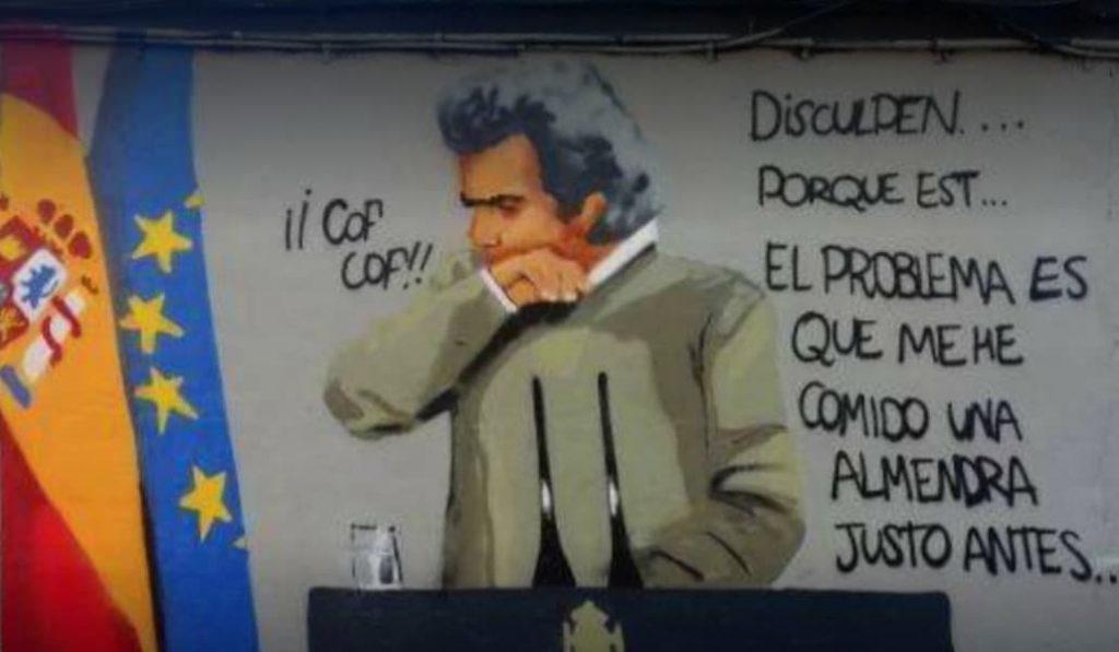 Fernando Simón, protagonista de un mural callejero