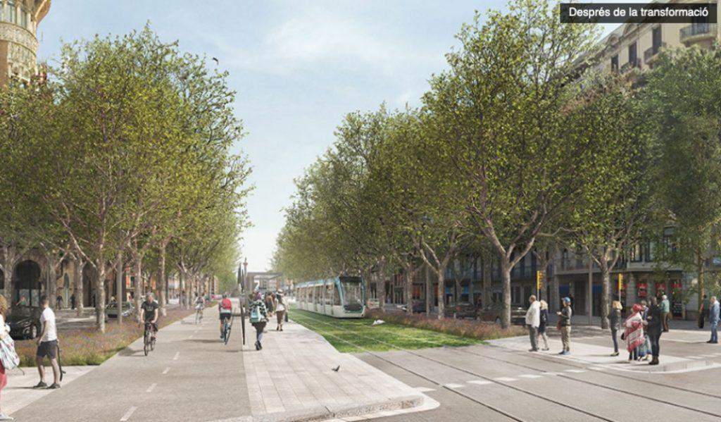 Así lucirá Diagonal tras las obras del nuevo tranvía