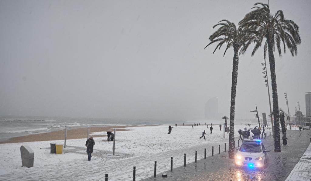 Esta noche podría nevar en Barcelona