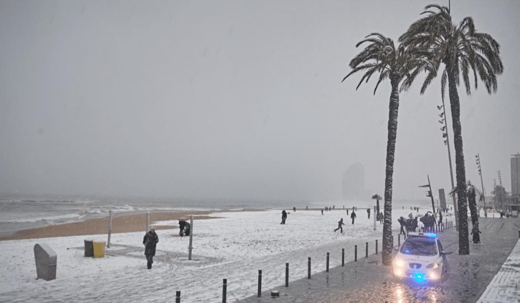 Nieva en toda España… excepto en Barcelona