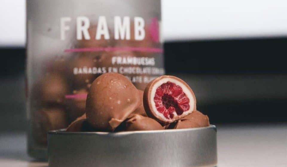 Frambons: bombones con corazón de frambuesa en el Born