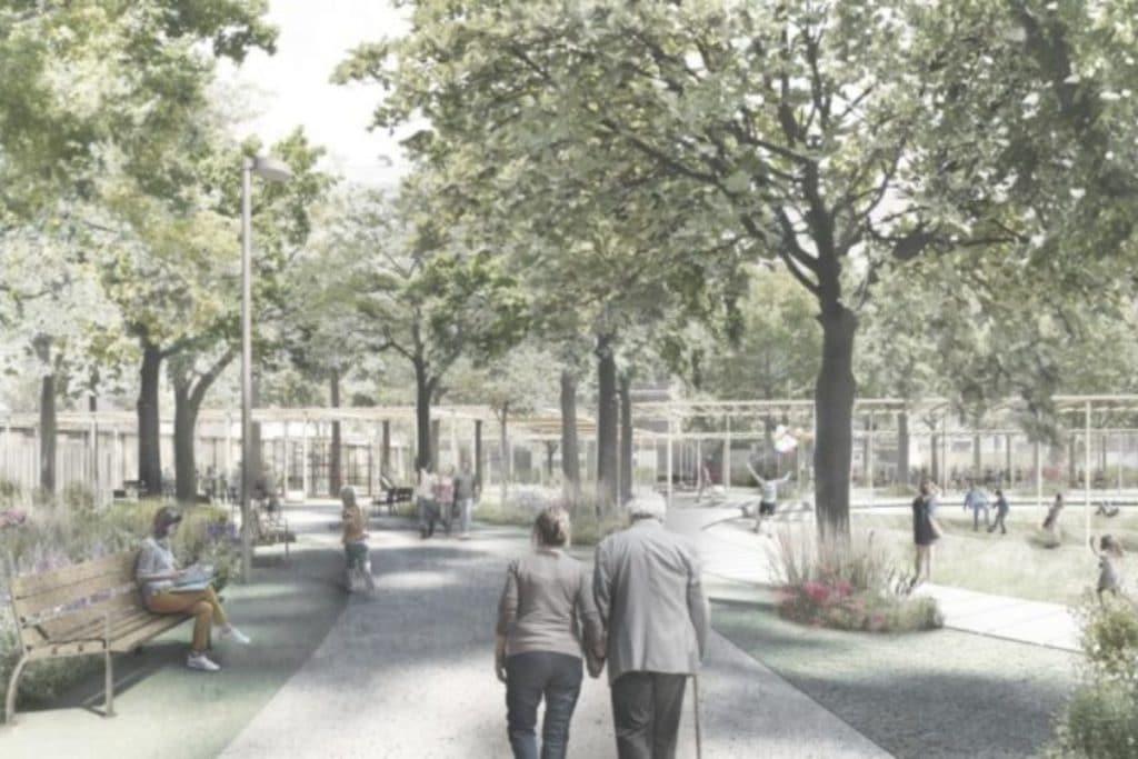 Colonia Castells se transforma en un parque de una hectárea
