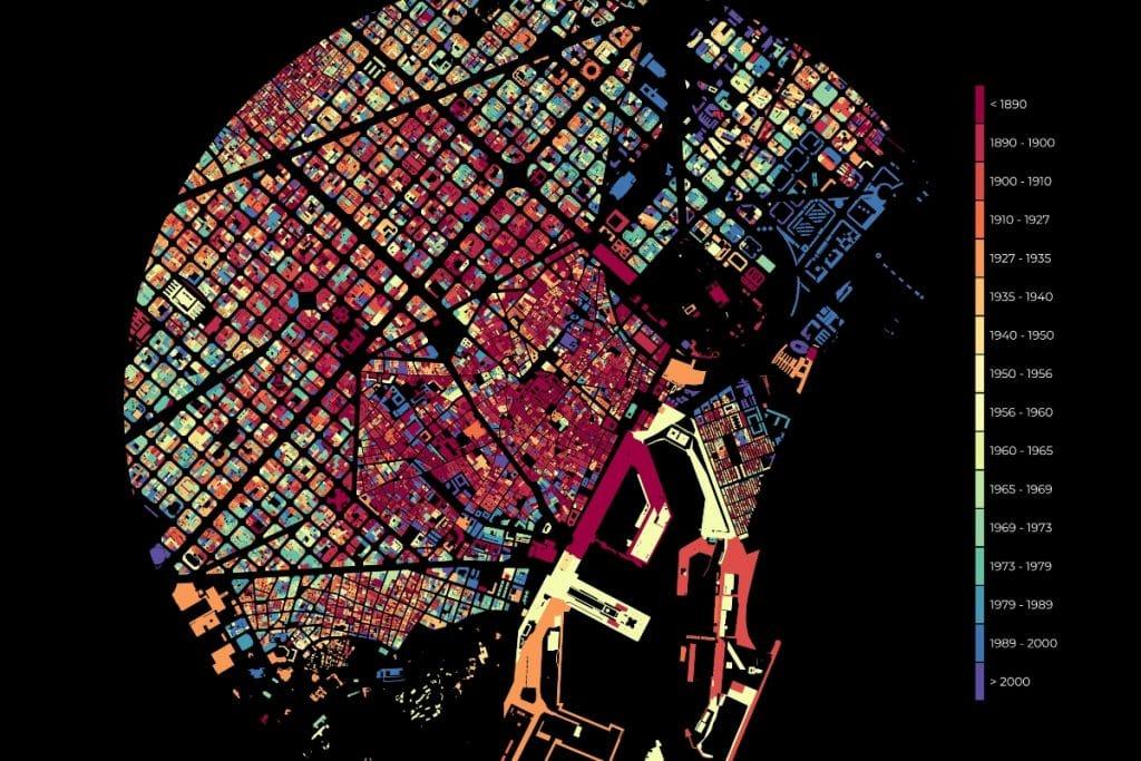 El increíble mapa que refleja el crecimiento urbano de Barcelona