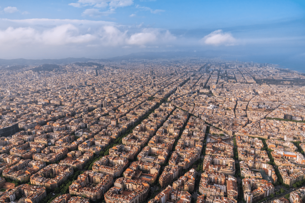 Aérea Barcelona Cielo