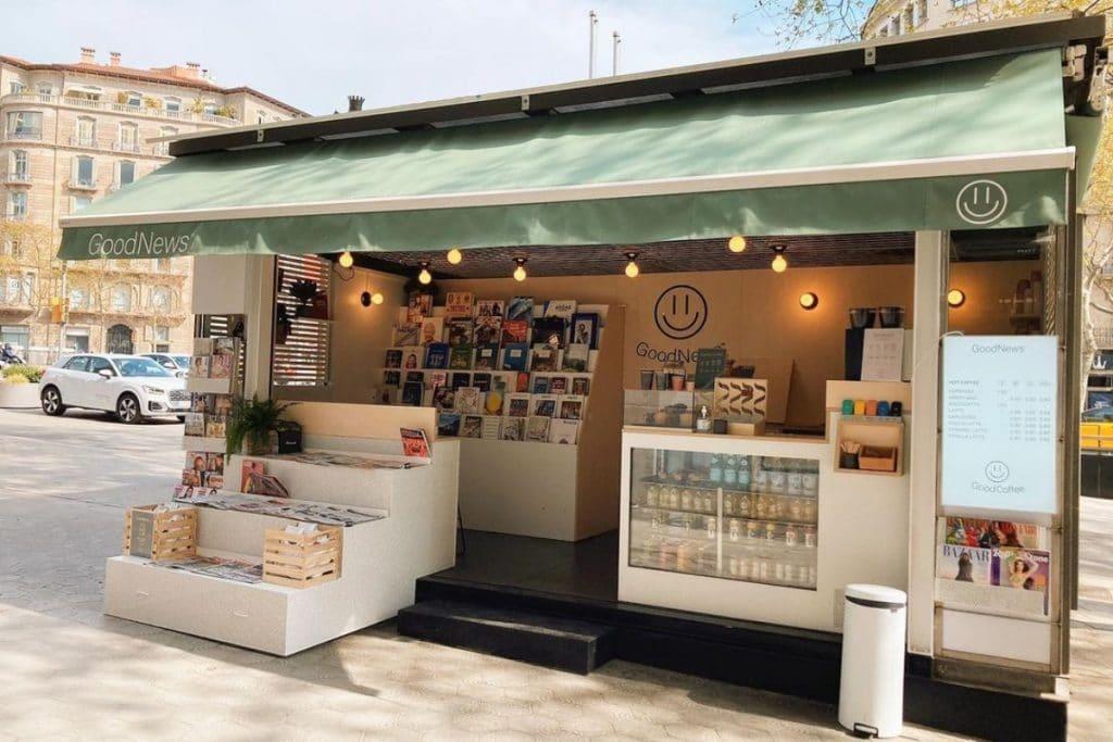 GoodNews Coffee: el kiosco en el que te invitan a café si traes buenas noticias