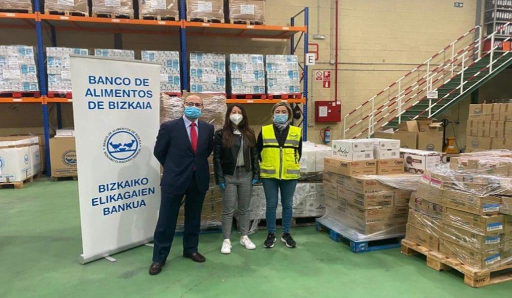 El Banco de Alimentos de Bizkaia ayudó a un 30% más de gente durante el confinamiento