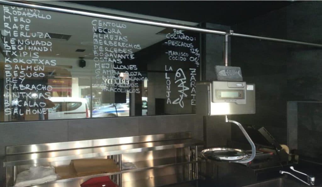 El restaurante Zárate, con estrella Michelin, reconvierte parte de su local en una pescadería