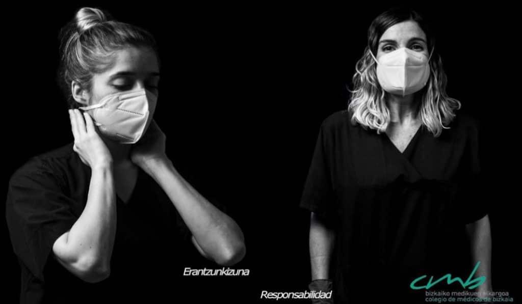 Esta exposición en Metro Bilbao homenajea al personal sanitario y a pacientes de la pandemia