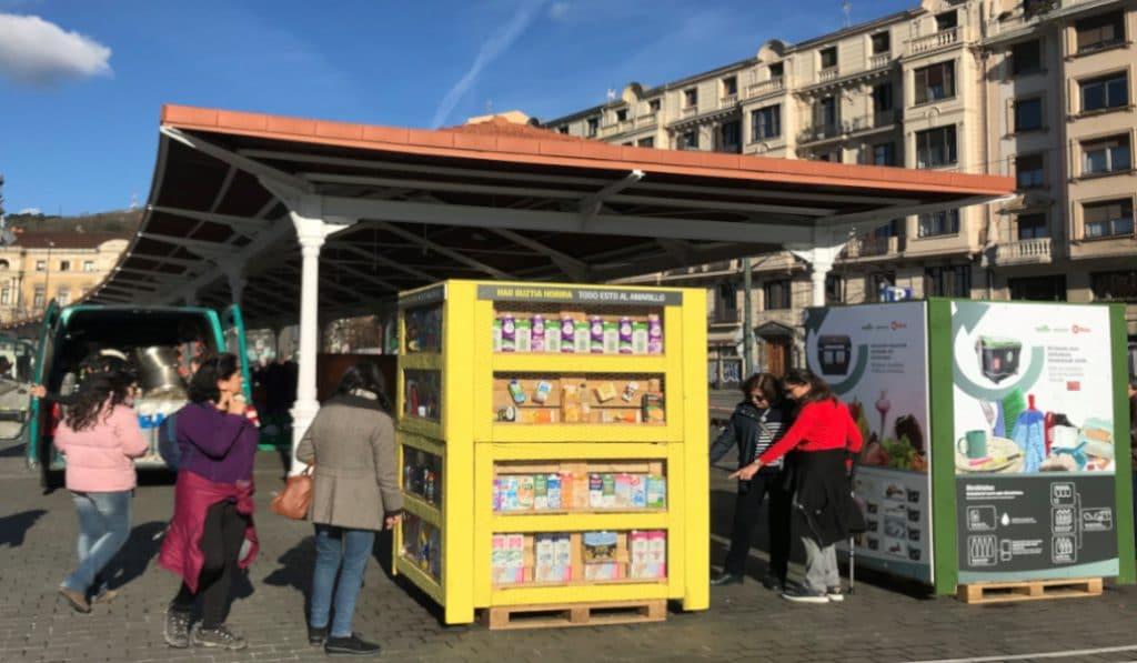 Instalan tótems informativos en Bilbao para concienciar sobre la importancia del reciclaje