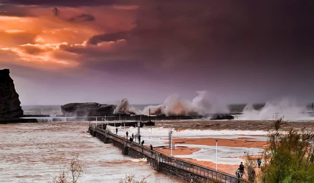 Las imágenes más espectaculares de la borrasca «Alex» en Bizkaia