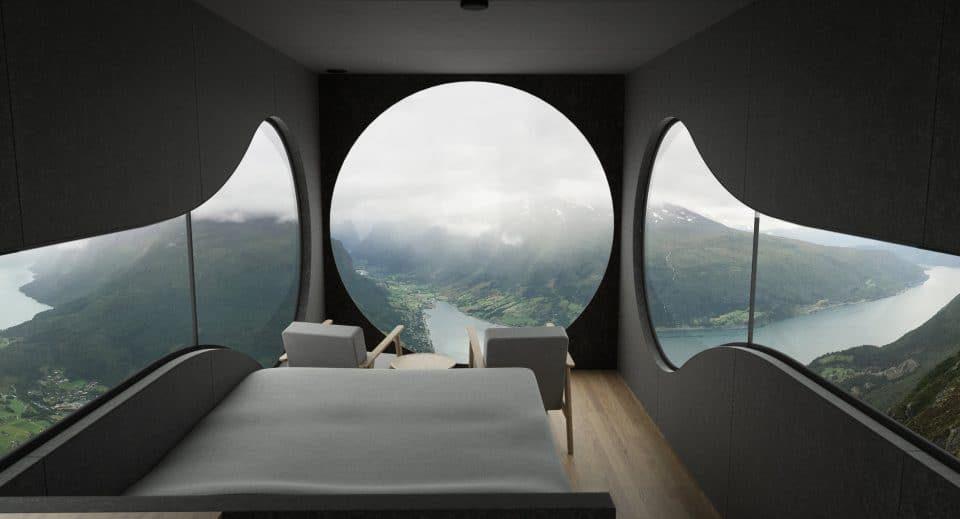 Birdbox: una casa minimalista con vistas a un fiordo noruego