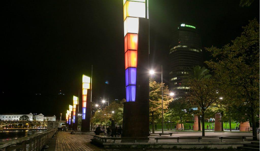 Espectáculos nocturnos de luz y danza este fin de semana en Bilbao