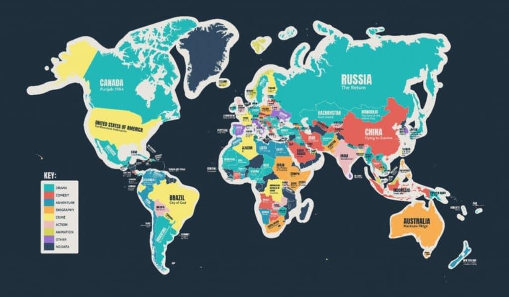 La película favorita de cada país, en este mapa
