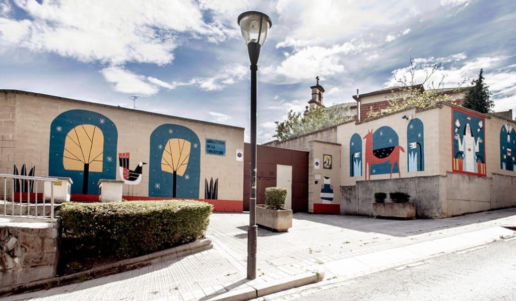 Pintan un mural de 100m² en el Convento de la Concepción