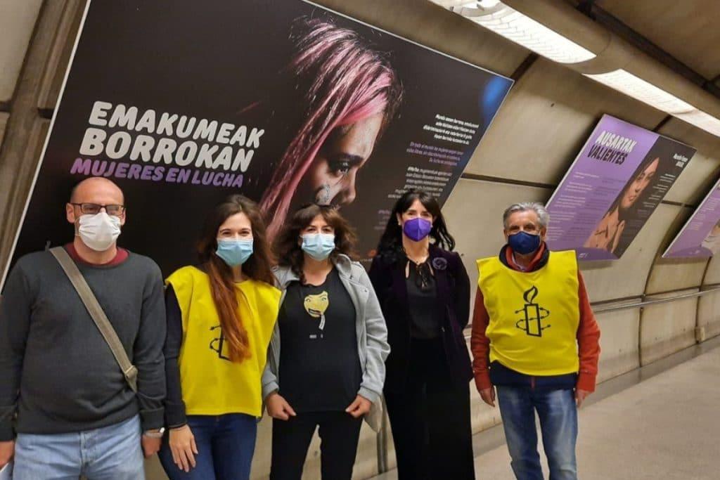 Metro Bilbao acoge la exposición «Mujeres en lucha» con motivo del 8M